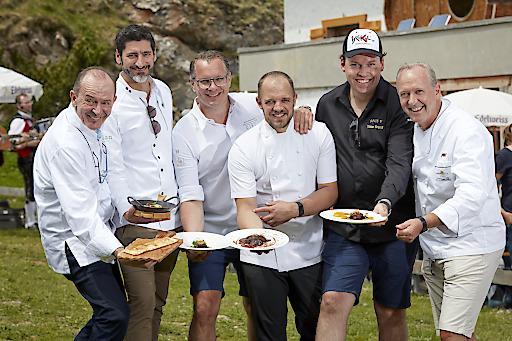 11. Kulinarischer Jakobsweg in Ischgl. Wanderung mit den Köchen auf die Heidelbergerhütte am 6.7.2019.