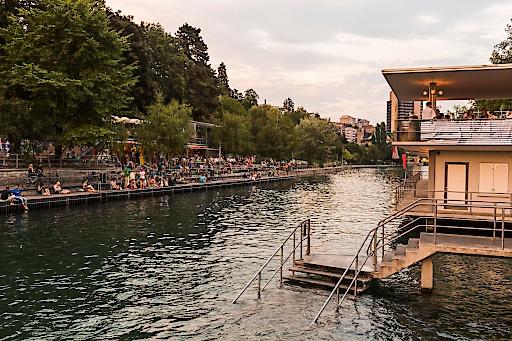 Oberer Letten, Flussbad in Zürich