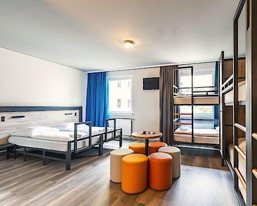 Das neue Design der Zimmer in den a&o Hostels ist bereits im Großteil der Häuser angewandt.