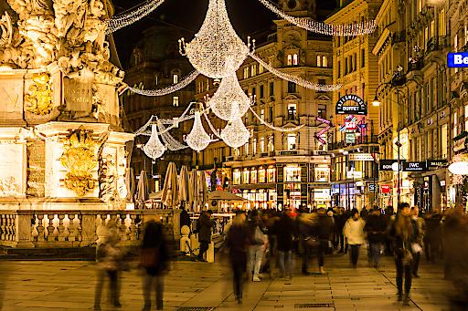 Der Graben und alle anderen Wiener Einkaufsstraßen werden heuer wieder weihnachtlicher erstrahlen.