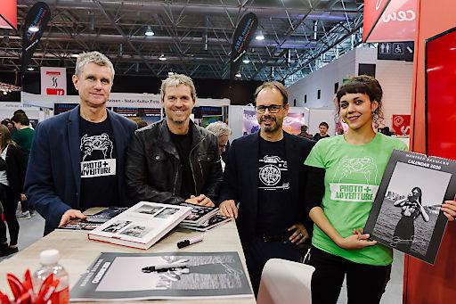 Starfotograf Manfred Baumann mit den Veranstaltern Thomas Wiltner und Oliver Bolch.