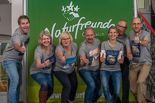 Andreas Schieder Vorsitzender der Naturfreunde Österreich mit den Landesvorsitzenden Philipp Liesnig (Kärnten), Karin Scheele (Niederösterreich), Gerda Weichsler-Hauer (Oberösterreich) und Sophia Burtscher (Salzburg).