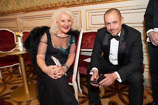 Gratulierten der Tanzschule Elmayer zum Jubiläum: Marika Lichter und Gery Keszler