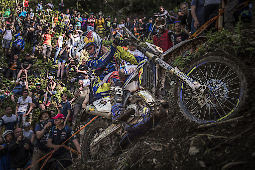 Wade Young of South Africa races at the Red Bull Hare Scramble at the Erzberg in Eisenerz, Austria on June 2, 2019. Photo by Sebastian Marko for Red Bull Contentpool // Sebastian Marko/Red Bull Content Pool // AP-1ZHAZEM7H2111 // Usage for editorial use only // Please go to www.redbullcontentpool.com for further information. //