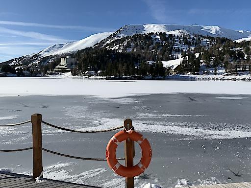 Betreten oder nicht betreten lautet die Frage aller Fragen am 12.12. So wie es momentan aussieht bleibt der See allerdings noch unsicher.