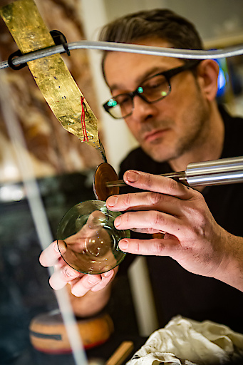 Filigrane Glasgravur von Lobmeyr