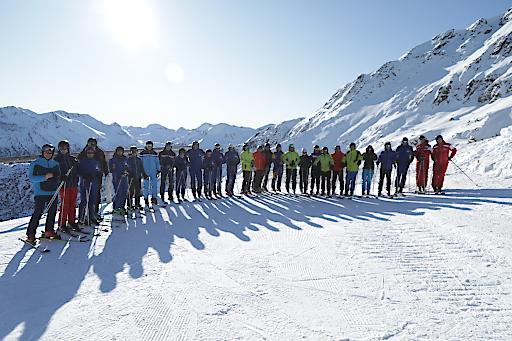 Gruppenbild Skiexkursion