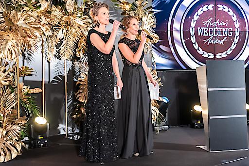 Susanne Hummel (links) Bianca Lehrer, Veranstalterinnen und Initiatorinnen des Austrian Wedding Award