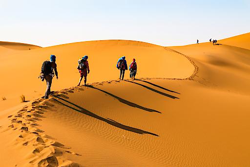 Entschleunigung & Digital Detox: zu Fuß durch Marokkos Wüste