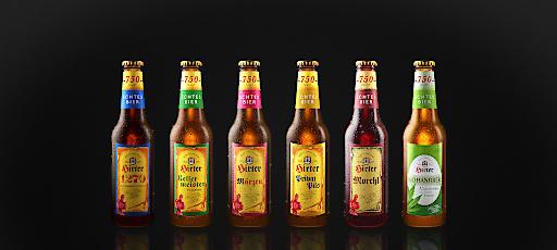 Echtes Bier: neues Flaschen-Design im Jubiläumsjahr