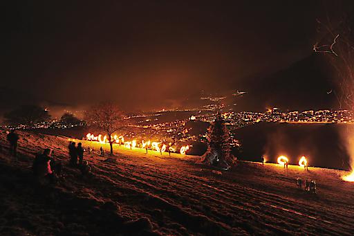 Funkensonntag in Balzers, Liechtenstein