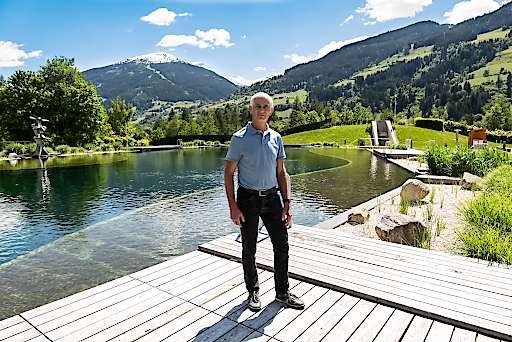Klaus Lemmerer in der Alpentherme Gastein