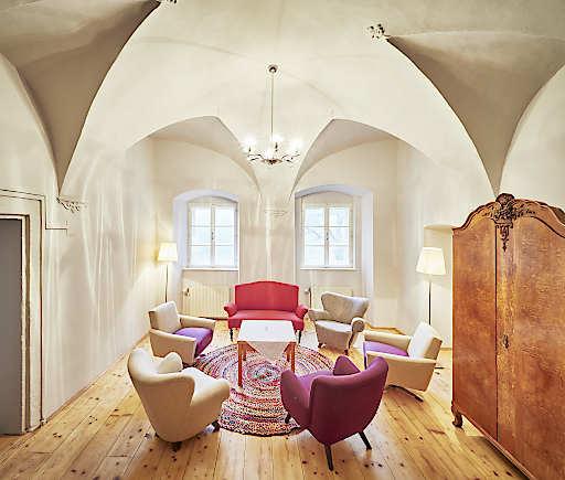 Aufenthaltsraum für unsere Gäste des Hauses Rosalia im Kloster Pernegg