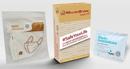 Safe Pack inklusive FFP Maske und Desinfektionstuch