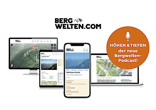 "Bergwelten.com –Website & Podcast ""Höhen & Tiefen"""