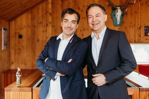 Almdudler Sprudelfabrikant Heribert Thomas Klein & Almdudler Geschäftsführer Gerhard Schilling