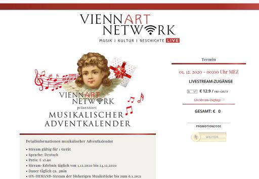 Screenshot aus www.viennaartnetwork.com
