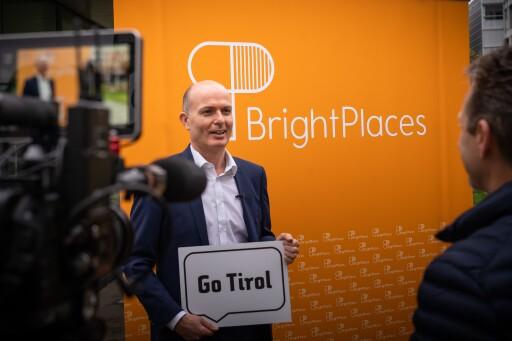 Go Tirol, Go BrightPlaces! Christian Märk von der Standortagentur Tirol gratulierte zum Start