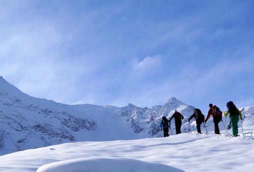 Skitour Bergsteigerdorf Sellraintal