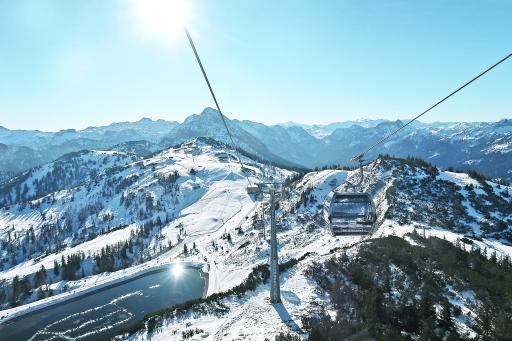 Die neue Verbindungsbahn Panorama Link verbindet die beiden Skigebiete Snow Space Salzburg und Flachauwinkl/Zauchensee
