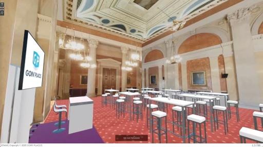 Going´ Places ermöglicht via VRAME die Visualisierung von Veranstaltungsstätten