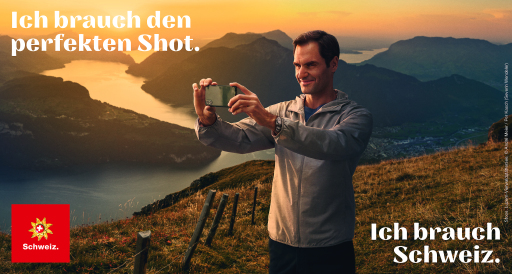 Schweiz Tourismus Key Visual Roger Federer