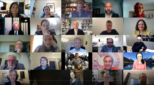 TeilnehmerInnen des virtuellen Club Tirol-Meetings
