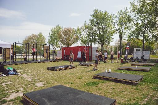 Trainingsbereich der Outdoor Zone auf der Wiener Donauinsel