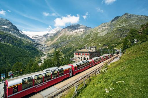 Bernina Express: Alp Grüm, Poschiavo