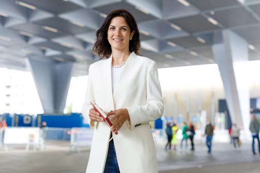 Susanne Baumann-Söllner, Direktorin des Austria Center Vienna vor der Impfstraße