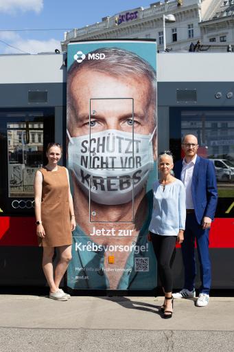 MSD Österreich: Straßenbahn als Botschafterin durch Wien unterwegs