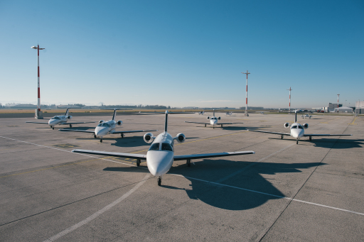 Die GlobeAir Flotte – bestehend aus aktuell 21 Cessna Citation Mustang