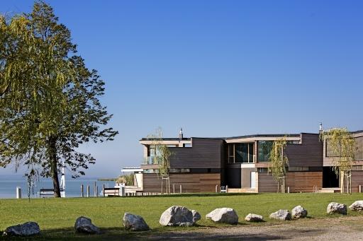 Von der UNESCO genehmigt: Am Hafen direkt am Seeufer des Neusiedler Sees.