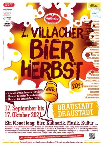 Bierherbst 2021: Ab 17. September dreht sich in Villach alles um Bier, Musik und erlesene Kulinarik!