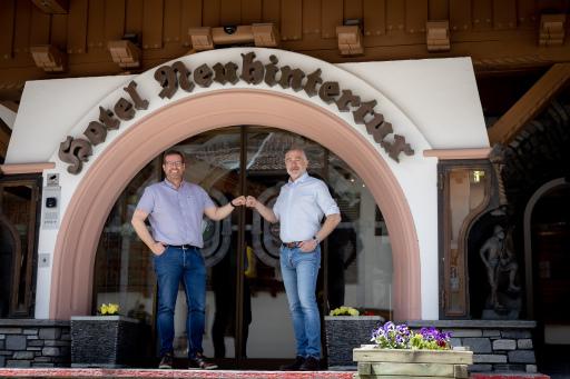 Langjährige Partnerschaft: Markus Tipotsch, Chef Hotel Neuhintertux und Michael Mrazek, Inhaber NCM.at