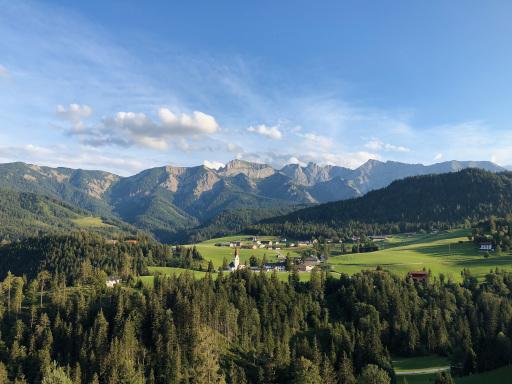 Dorfpanorama der Gemeinde Steinberg.