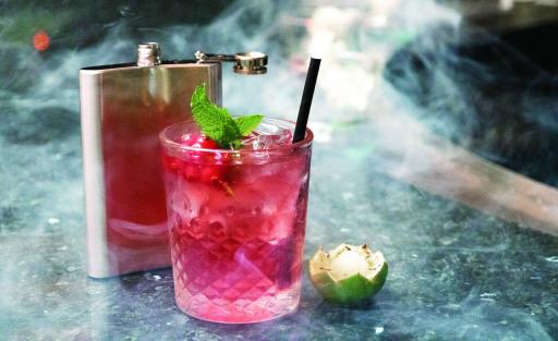 Smoky Cocktail in der Cascade Bar, Vienna Marriott Hotel